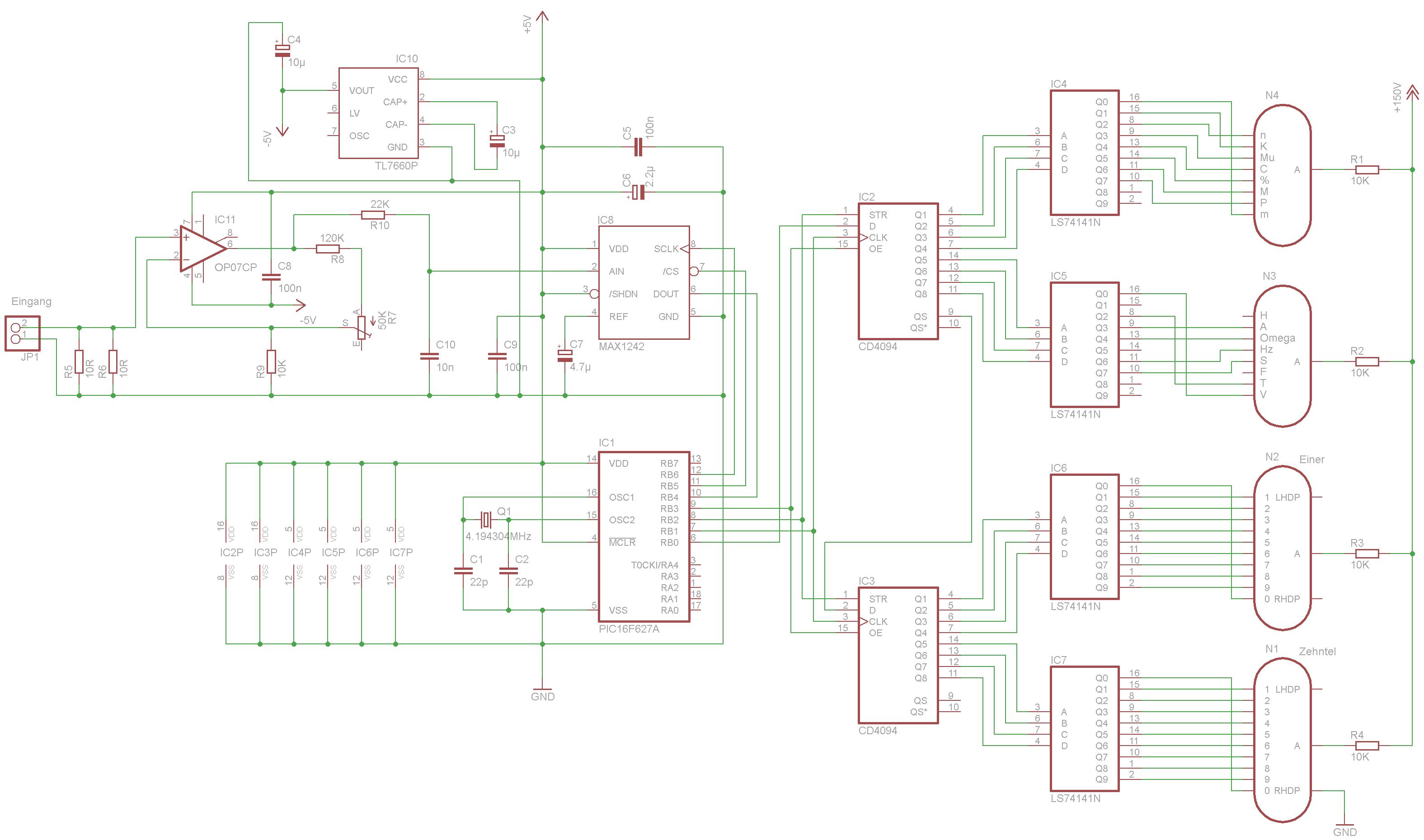 Nixie-Amperemeter - www.jb-electronics.de